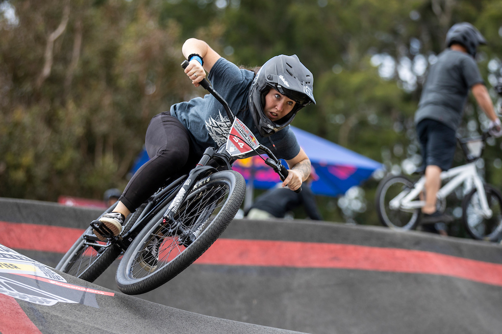 Shania Rawson takes 4th place on the podium at the Red Bull UCI Pump Track World Championships Qualifier in Cambridge New Zealand on March 20 2021
