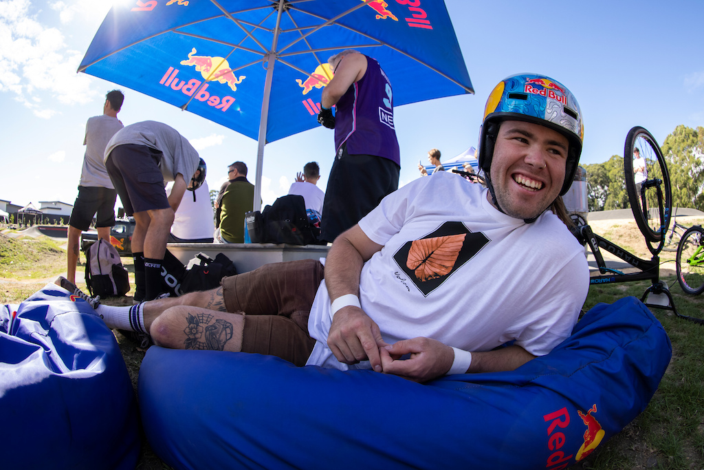 Remy Morton taking it easy during runs at the Red Bull UCI Pump Track World Championships Qualifier in Cambridge New Zealand on March 20 2021