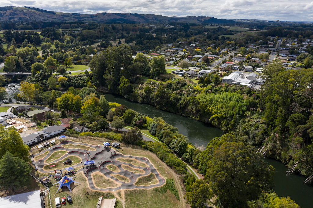 Velosolutions Cambridge Pump Track venue for the Red Bull UCI Pump Track World Championships Qualifier in Cambridge New Zealand on March 20 2021