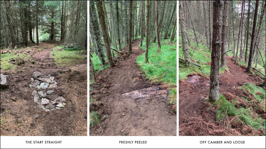 Some sections were left quite natural to cut in over time