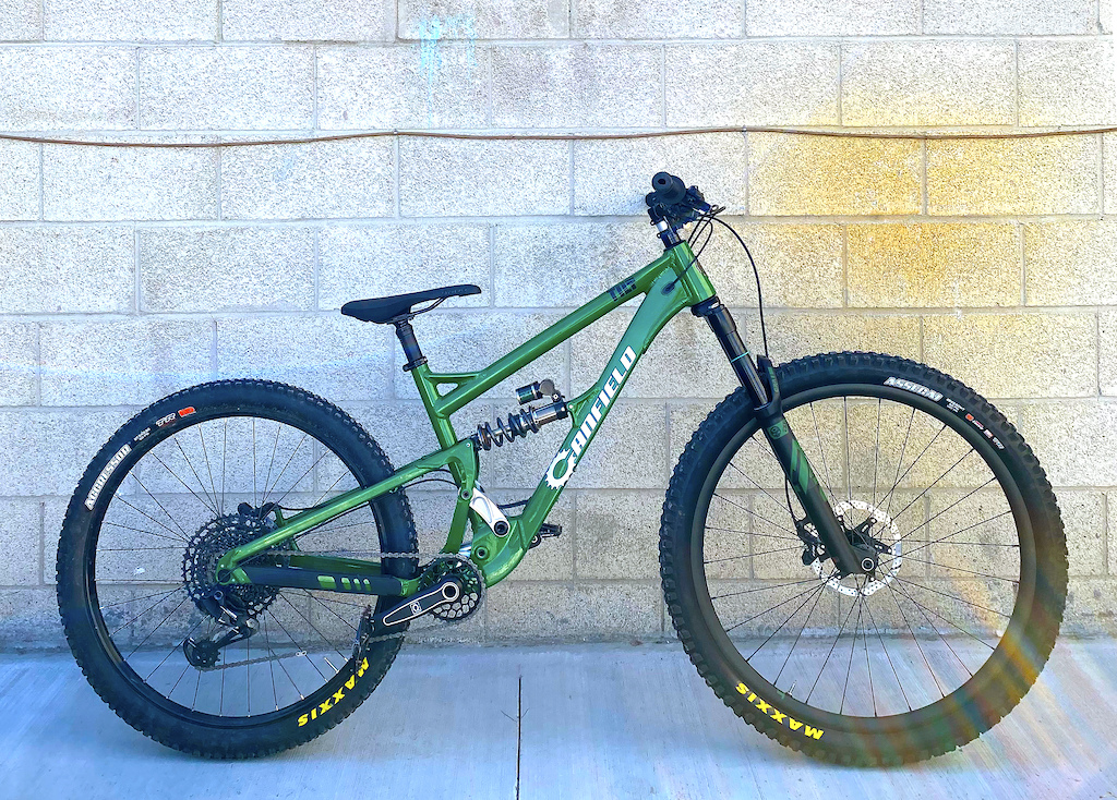 The recovered Canfield Tilt prototype with EXT suspension that was stolen just days earlier.