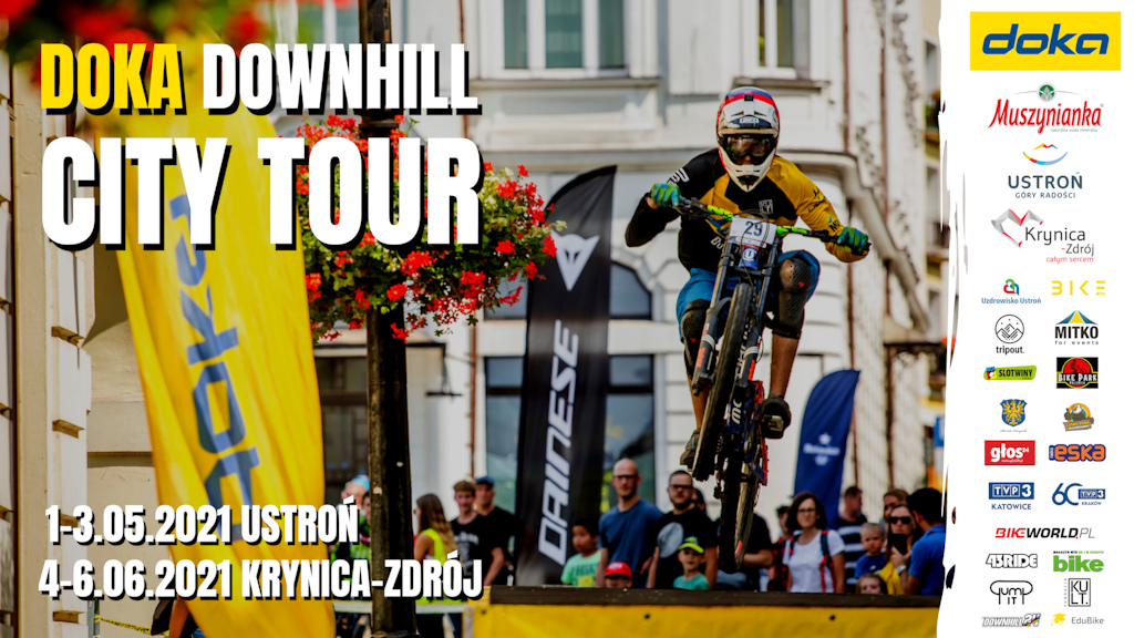Doka Downhill City Tour official poster