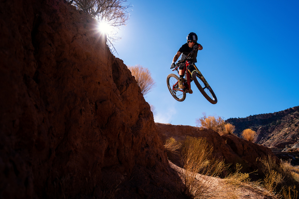 Kyle Warner and Kirt Voreis riding the Niner Bikes WFO 9 RDO in Southwest Utah.