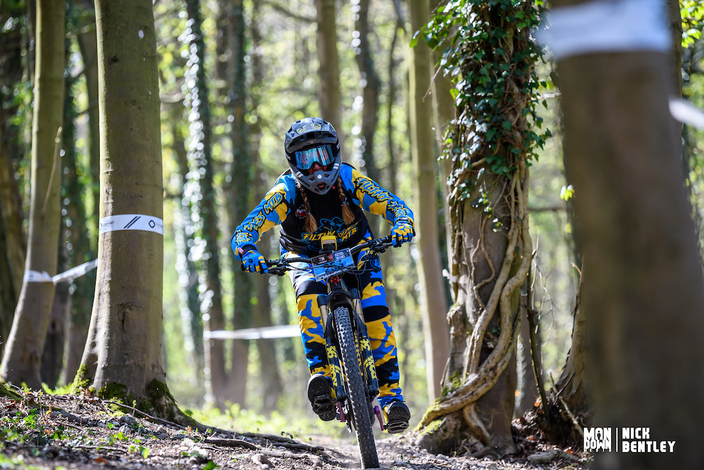 3rd place today for Daisy Potter in the lady s E-bike field. Daisy is one of those riders who is always smiling and happy to be racing but todays 3rd might have made her smile even more.