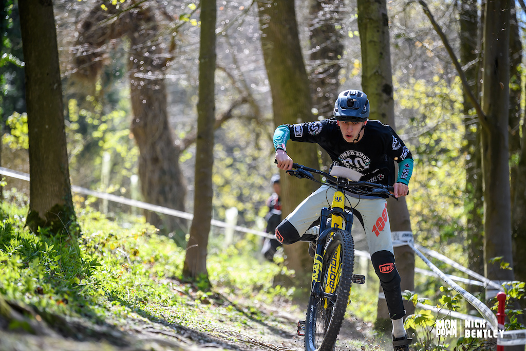 Luca Thurlow trying to use his Mondraker Superfoxy as a balance bike had mixed results.