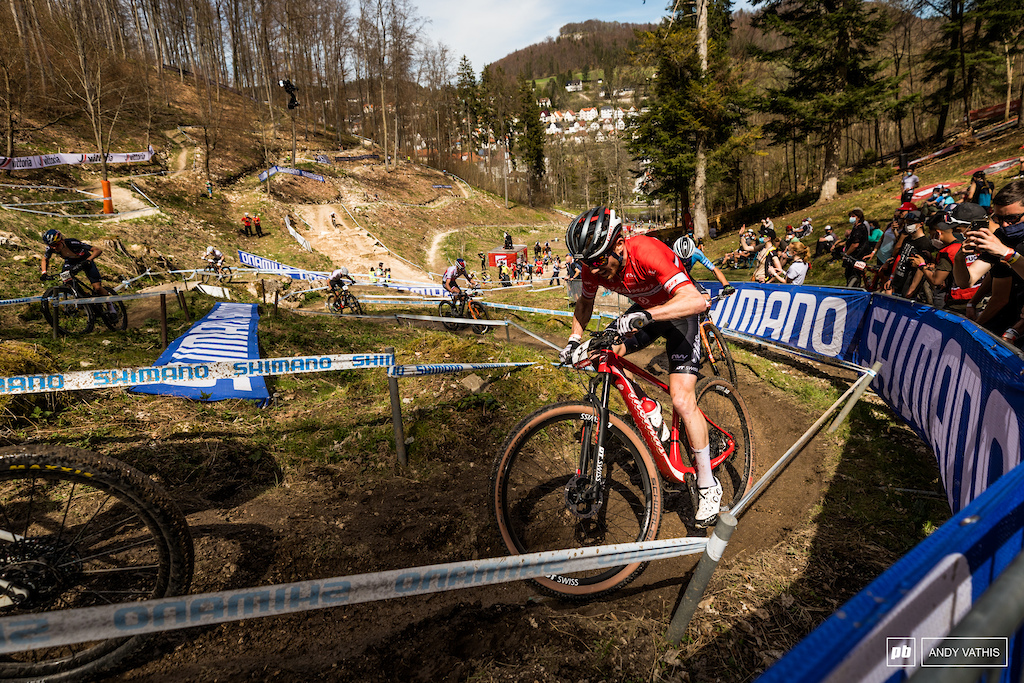 Mathias Flueckiger was showing teeth today and pulled through good enough for third.