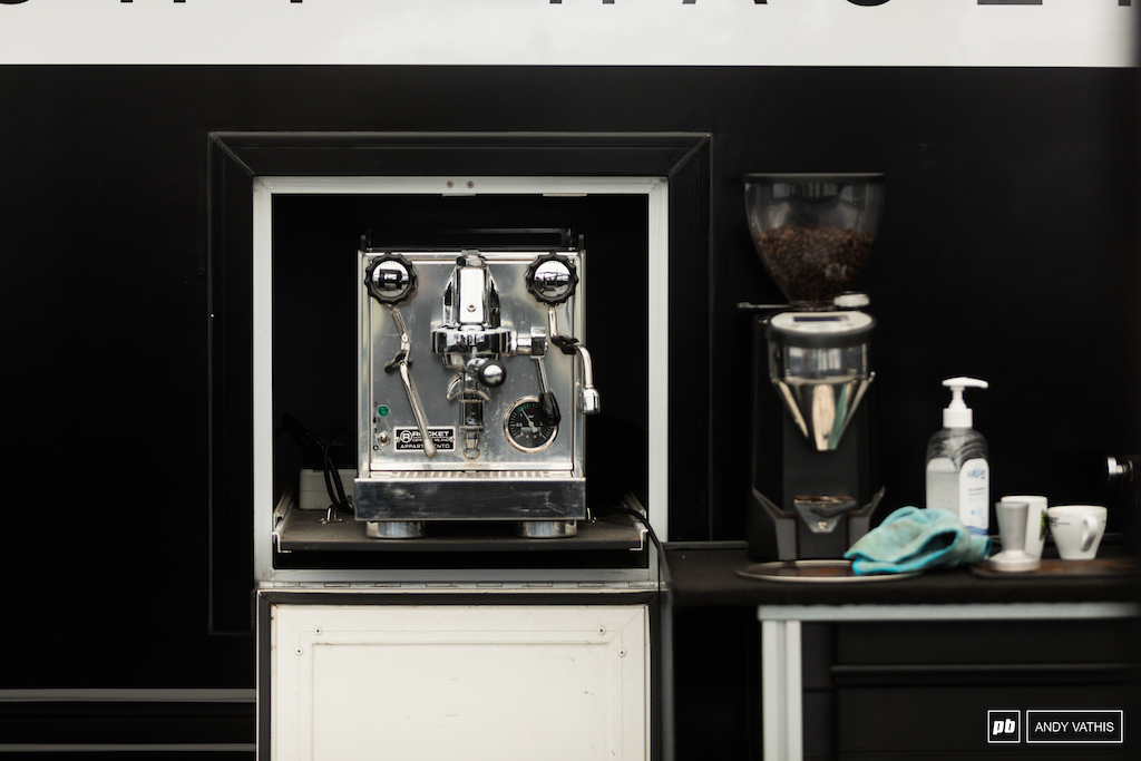 Does your team rig come with an espresso door built in Cannondale has got it all figured out.