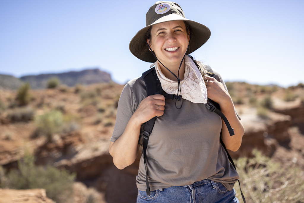 Katie Holden poses for a portrait at Red Bull Formation in Virgin Utah USA on 24 May 2021.