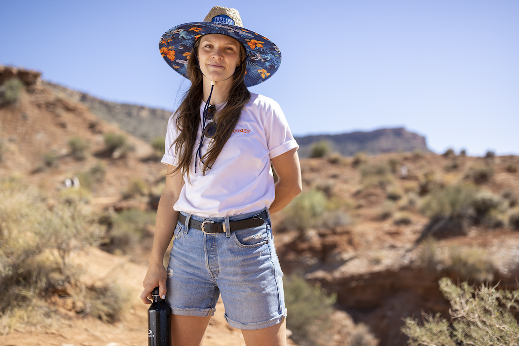 Vaea Verbeeck poses for a portrait at Red Bull Formation in Virgin Utah USA on 24 May 2021.