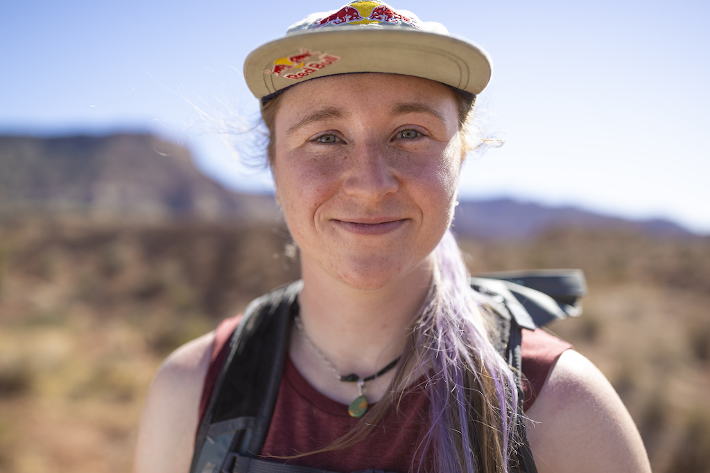 Hannah Bergemann poses for a portrait at Red Bull Formation in Virgin Utah USA on 24 May 2021.