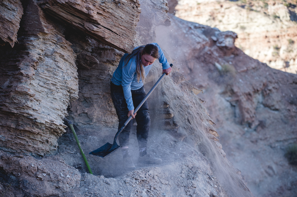 Hannah Bergemanndoes more work on the top of her line at Red Bull Formation in Virgin Utah USA on 30 May 2021