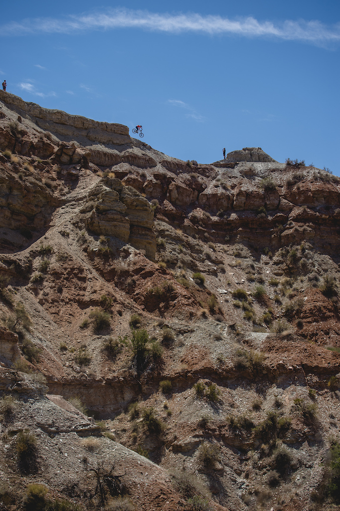 Vaea Verbeeck drops into the rideg from the top of the venue at Red Bull Formation in Virgin Utah USA on 30 May 2021