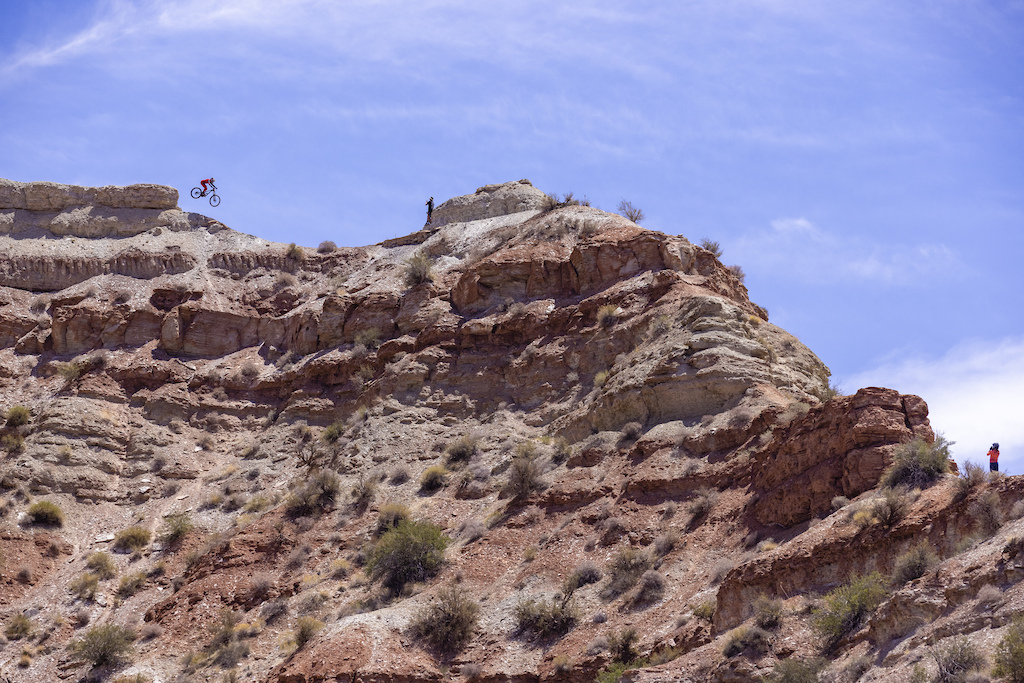 Cami Nogueira sends the top of her line while Dylan Cobern and Vaea Verbeeck look on at Red Bull Formation in Virgin Utah USA on 30 May 2021.