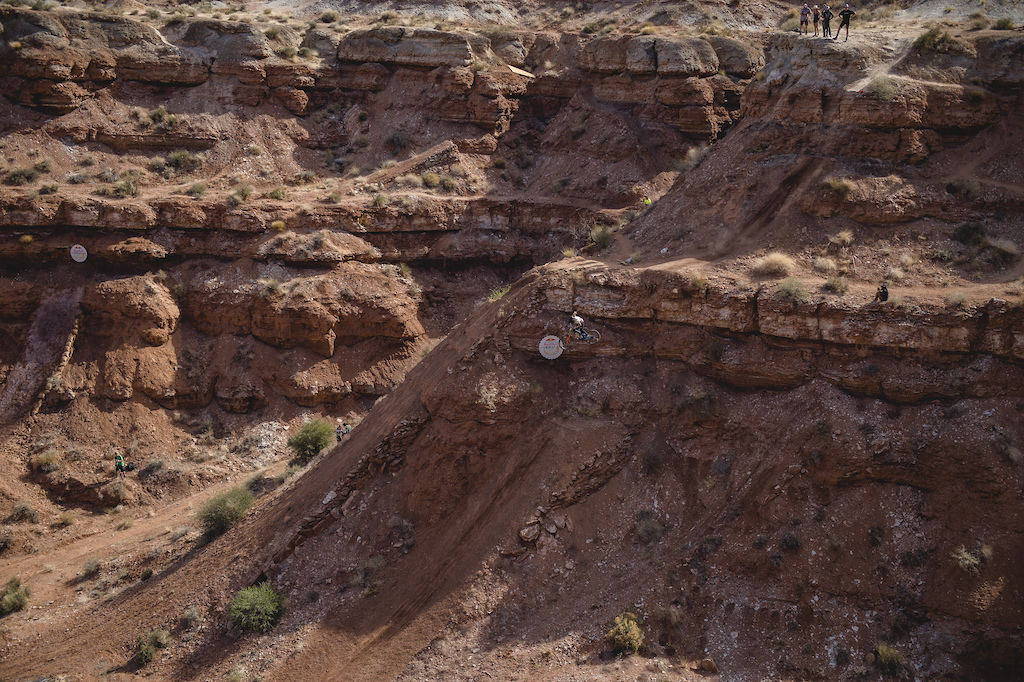 Jess Blewitt hits the double drop on ride day 1 at Red Bull Formation in Virgin Utah USA on 29 May 2021