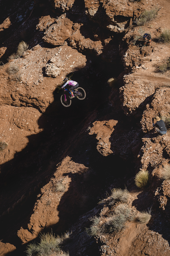 Chelsea Kimball hits her drop at Red Bull Formation in Virgin Utah USA on 31 May 2021