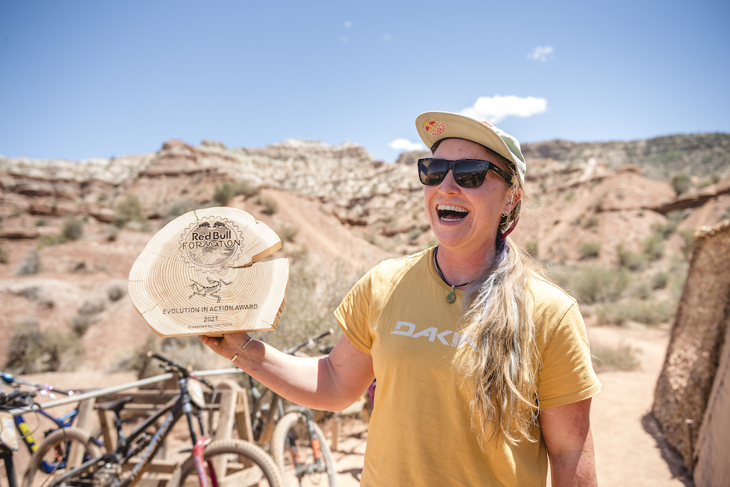 Hannah Bergemann wins the Evolution in Action Award presented by Arc Teryx at Red Bull Formation in Virgin Utah USA on 31 May 2021