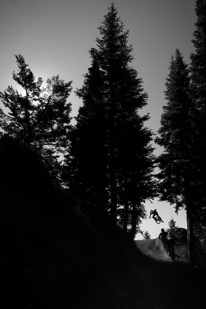 Silhouette airs on Deer Jumps.