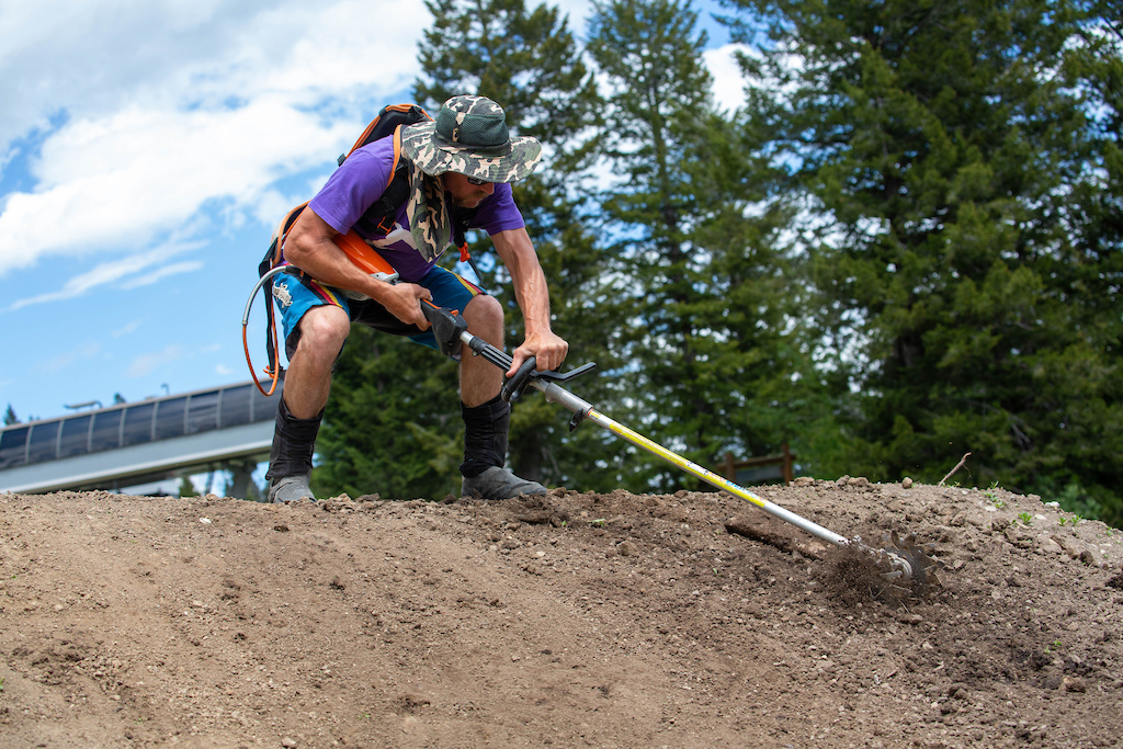 Jackson Hole Trail Crew puts in work getting the trails ready for opening.