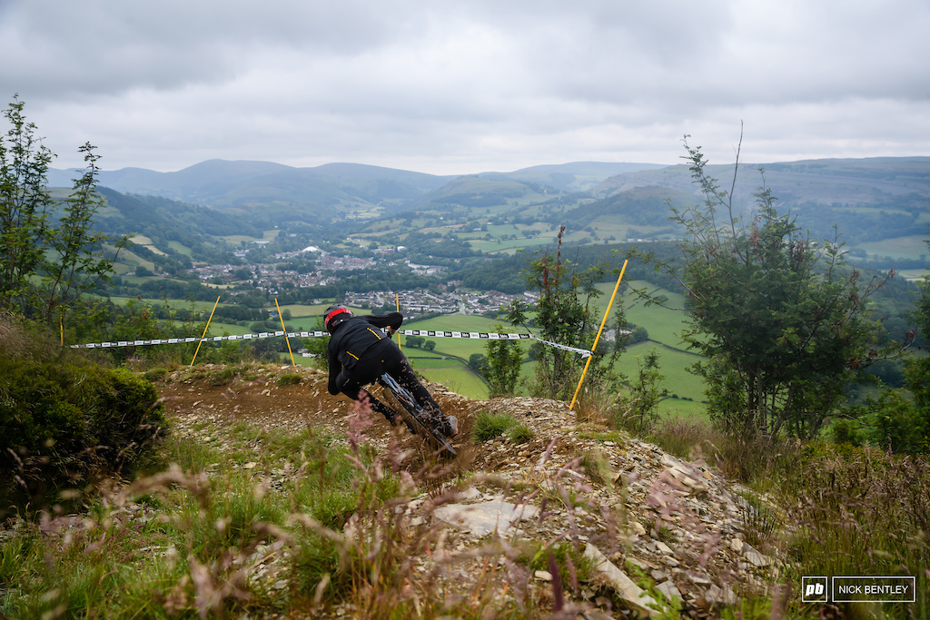 its very hard to Beat the Veiws form the track at Llangollen not that the riders had any time to enjoy them.