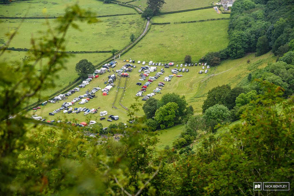 the race arena looked impressive from up on the hill.