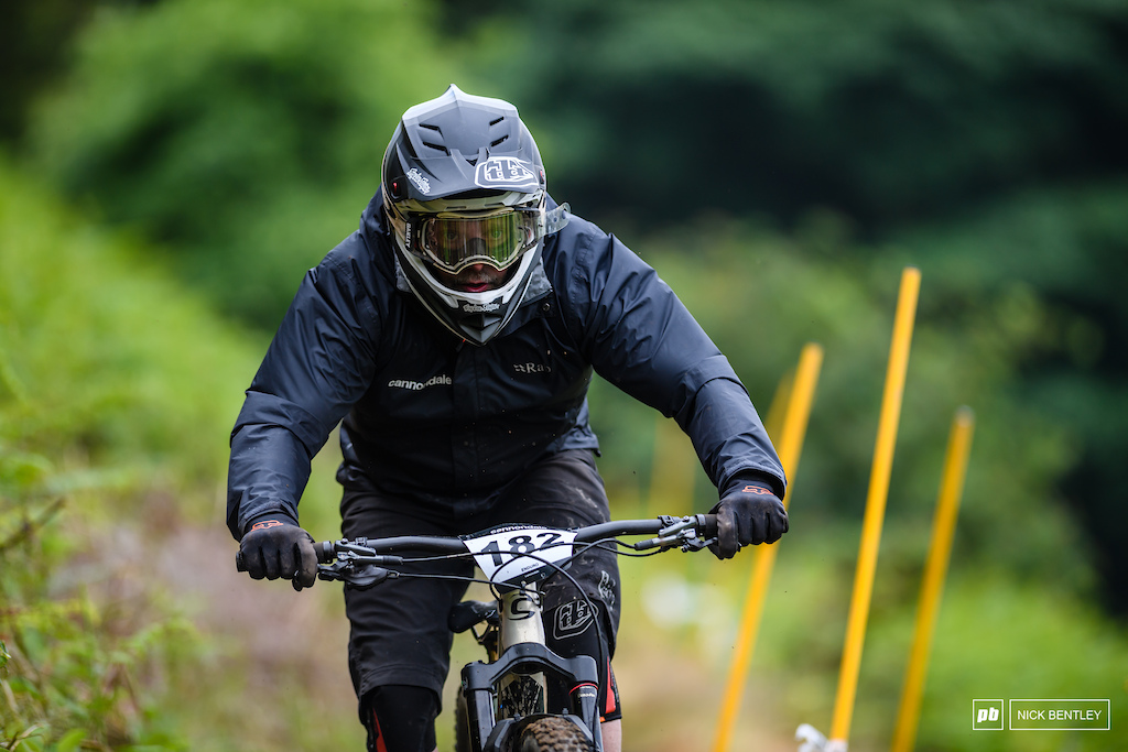 Graham Upton not only there repersenting the title sponsers Cannondale as there sports marketing manger but also out racing his bike and having fun to.
