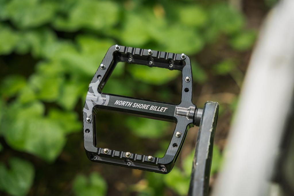 North Shore Billet s new Daemon flat pedal. Photo A.J. Barlas