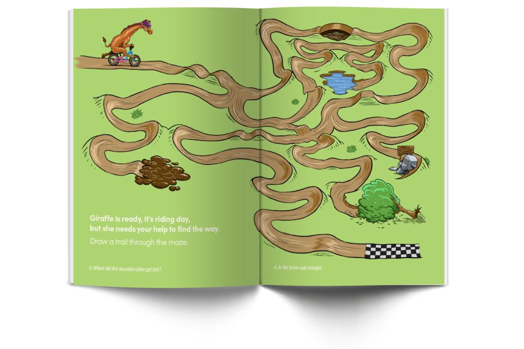 Shred Til Bed Activity Book Maze