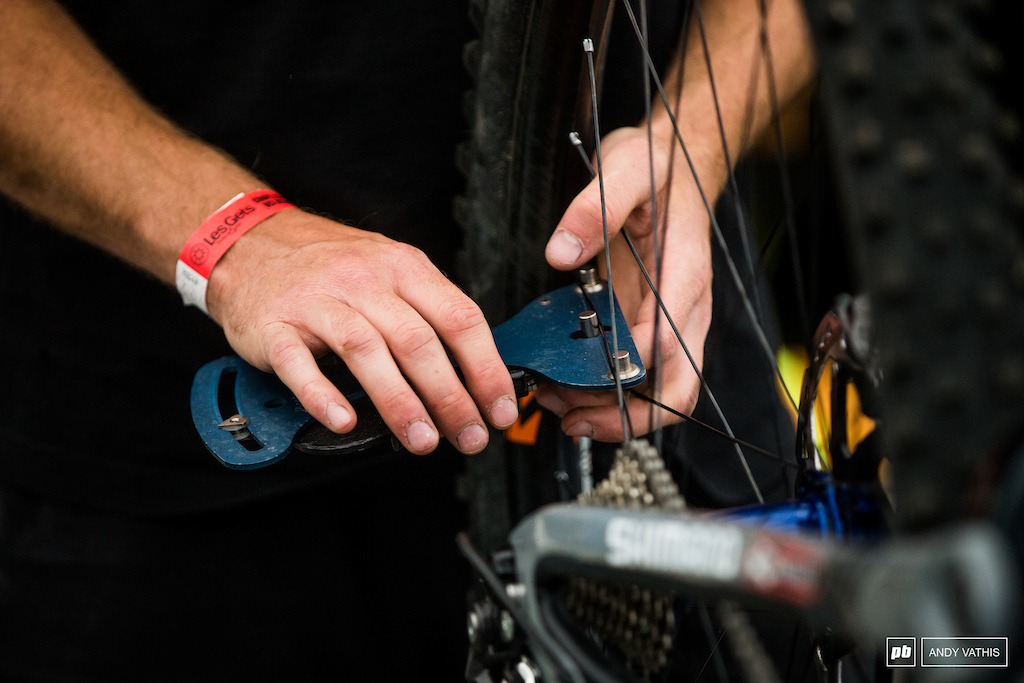Spoke checks and tensions will be vital to keeping wheels round as they smash through the new course.
