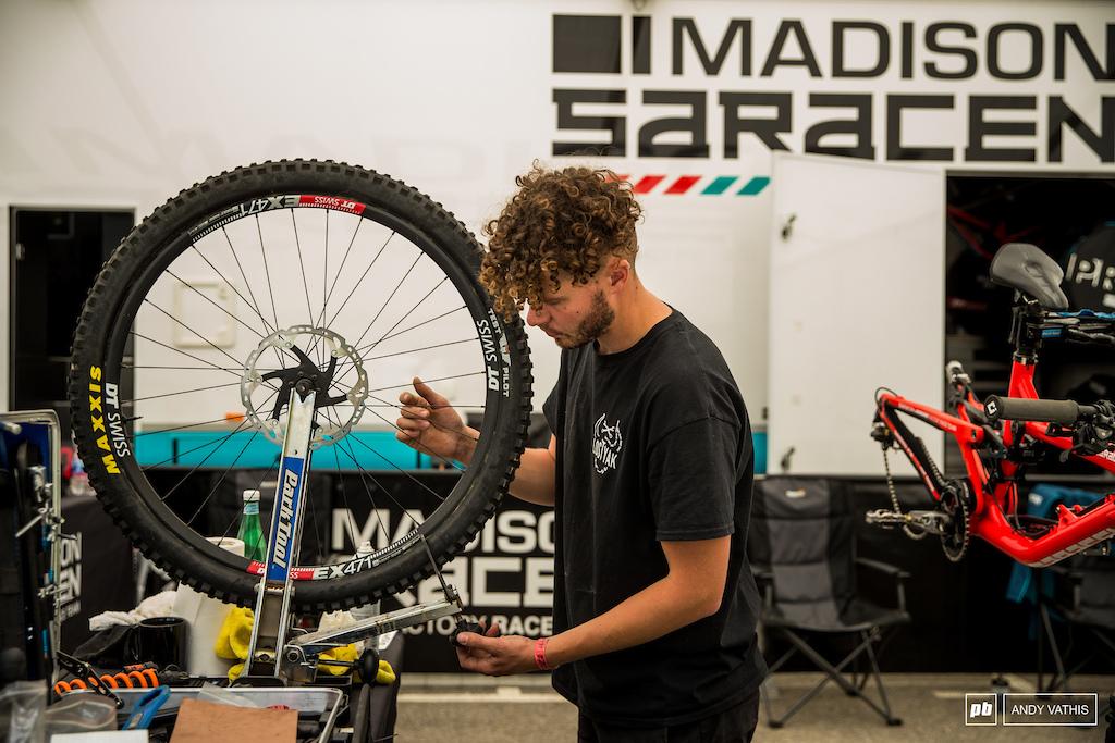 Wheel builds and prep at Madison Saracen.