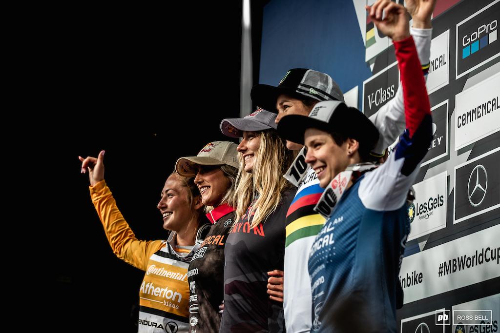 Your top 5 elite women 1st Tahnee Seagrave 2nd Myriam Nicole 3rd Camille Balanche 4th Mille Johnset 5th Monika Hrastnik