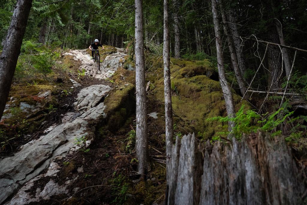 Yoann Riding the Gnarvana on a rock slab