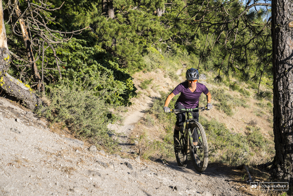 Nikki Rohan riding Surveyer s Ridge