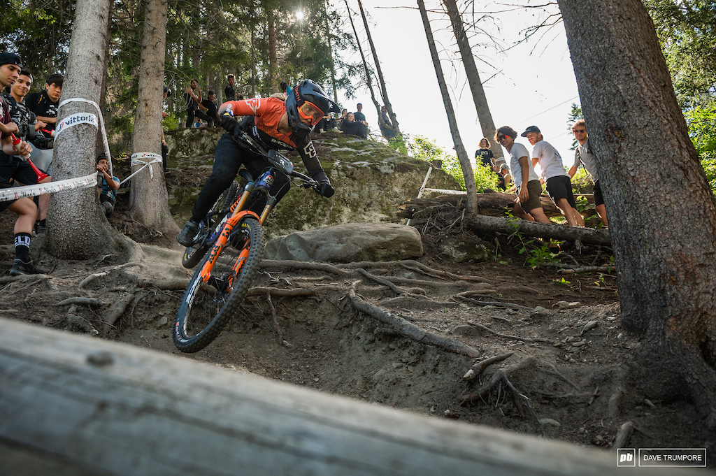 A gutsy ride for Andreane Lathier Nadeau who was in the hospital late into the night after dislocating an ankle on Saturday s pro stage