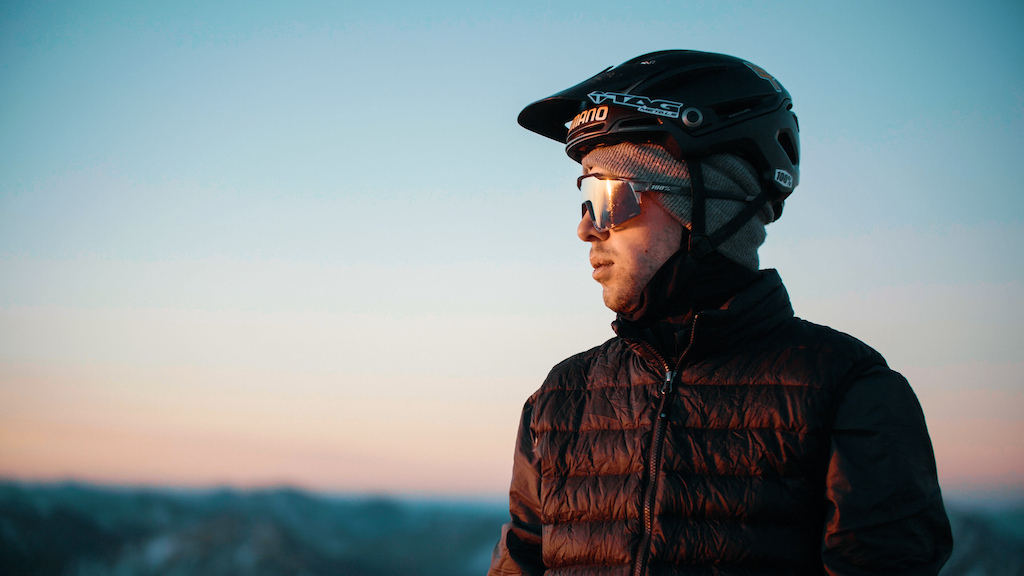 Roark taking in the sunrise from the top of Colorado.