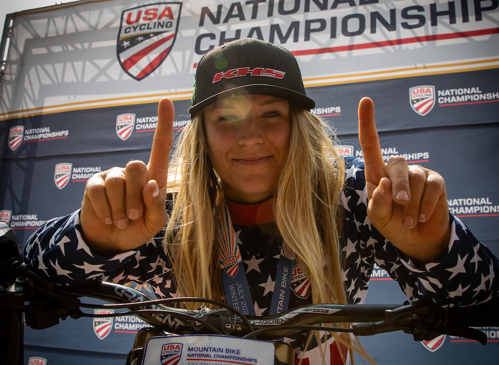 KHS Pro MT rider Kailey Skelton the 2021 US Women s National Downhill Champion.