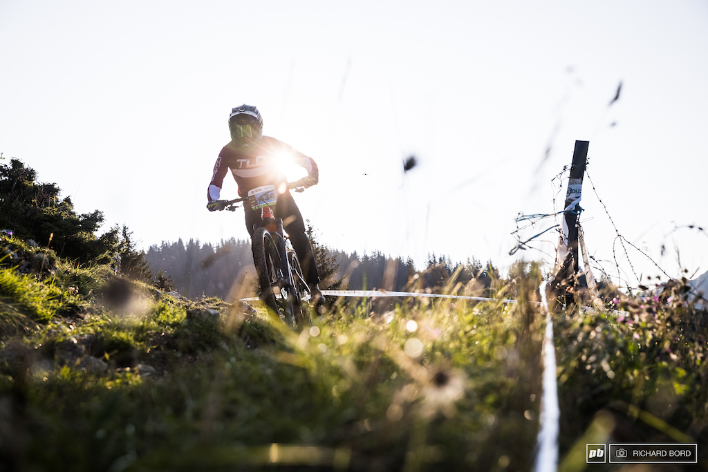 E-Bike rider Valentin Escriou was one of the 1st to set off the first stage early morning on Saturday.