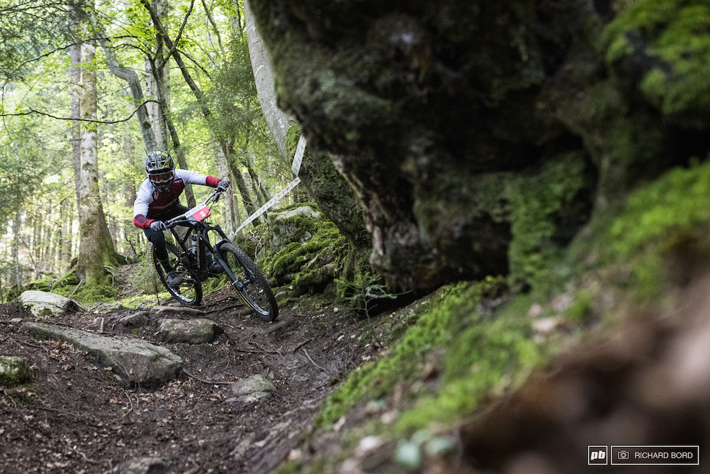 With a bunch of EWS race wins Adrien Dailly is one the best Enduro riders in the World. He unfortunately had a crash on the second stage on Saturday and lost confidence for the rest of the week-end. Still managed to be 8th.