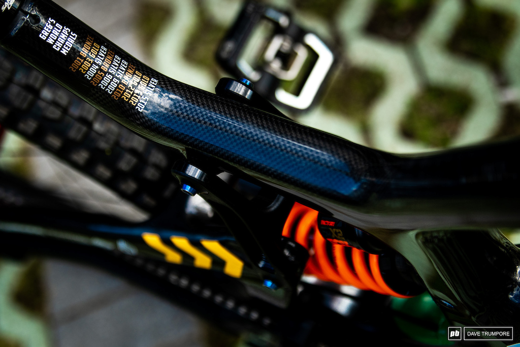 A tribute to all the hardware Greg Minnaar has hauled away at World Champs over the years