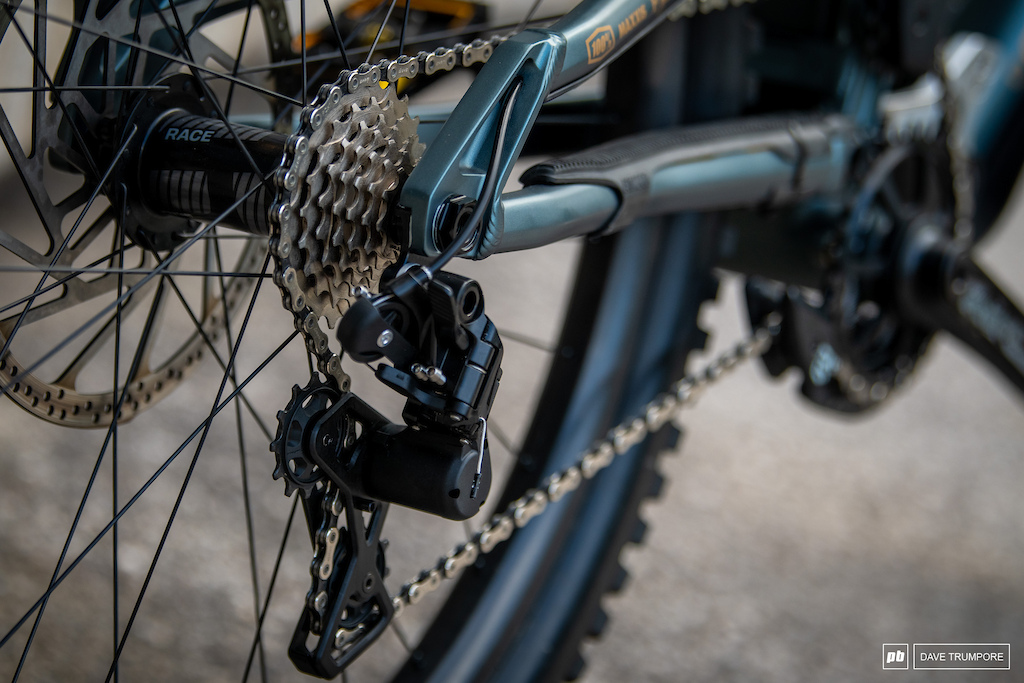 A shiny new version of the TRP derailleur of Greg Williamson s bike