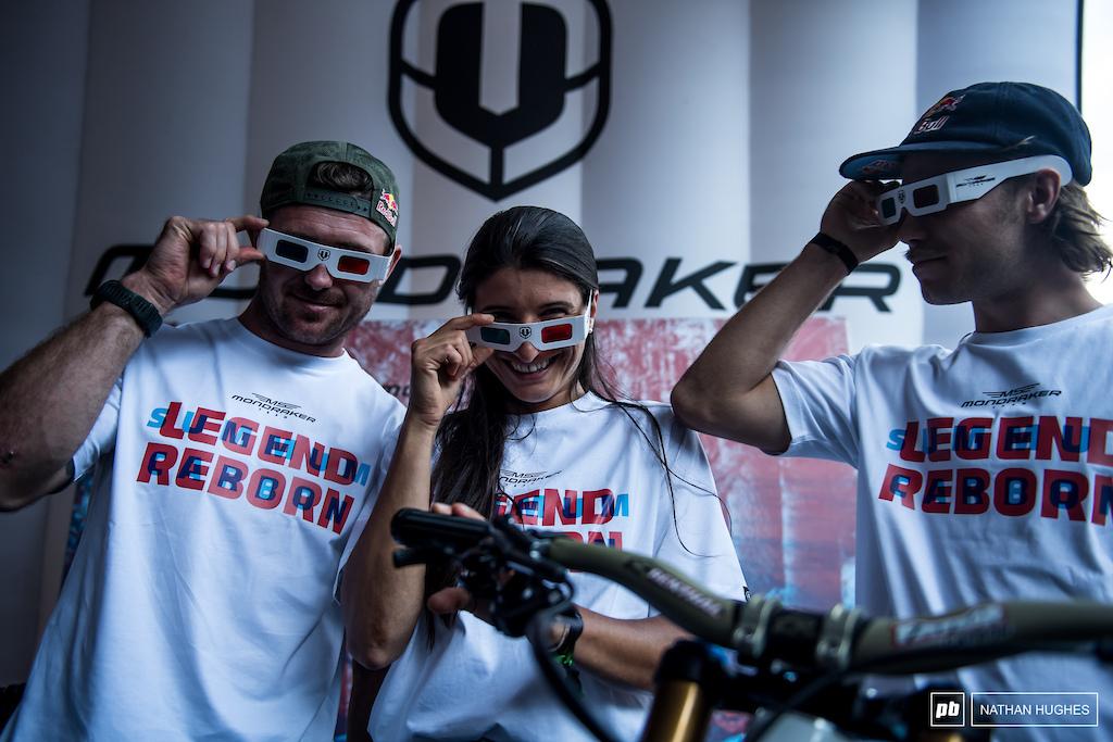 The MS Mondraker team with a legendary rebirth of retro 3D glasses.