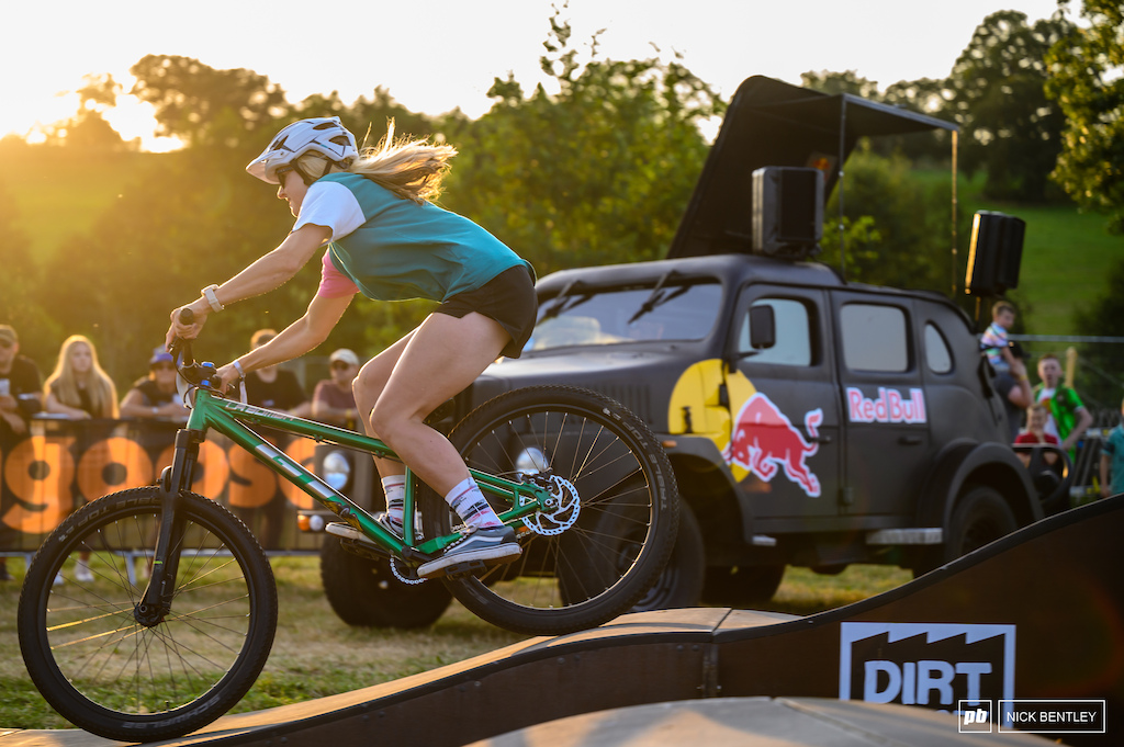 Sian Dillon smashed out the laps in the setting sun.