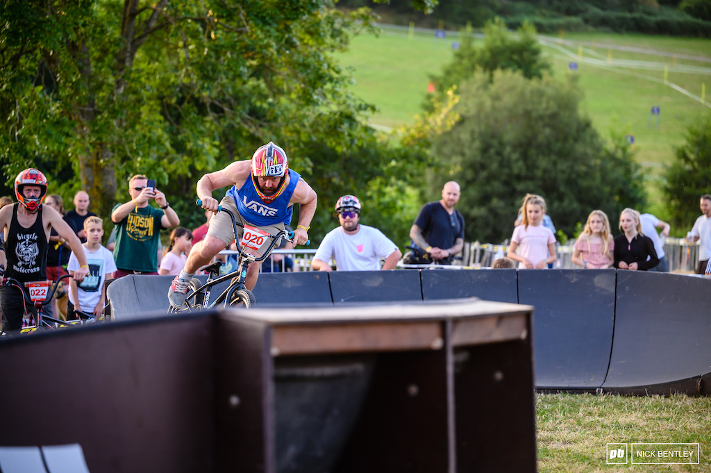Peter Bowcock out on the BMX showing it s not only the kids that rip