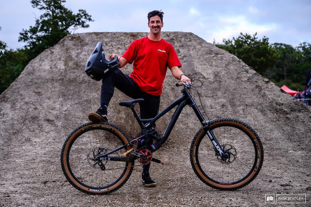 Patrick Robinson and his Downhill Bike