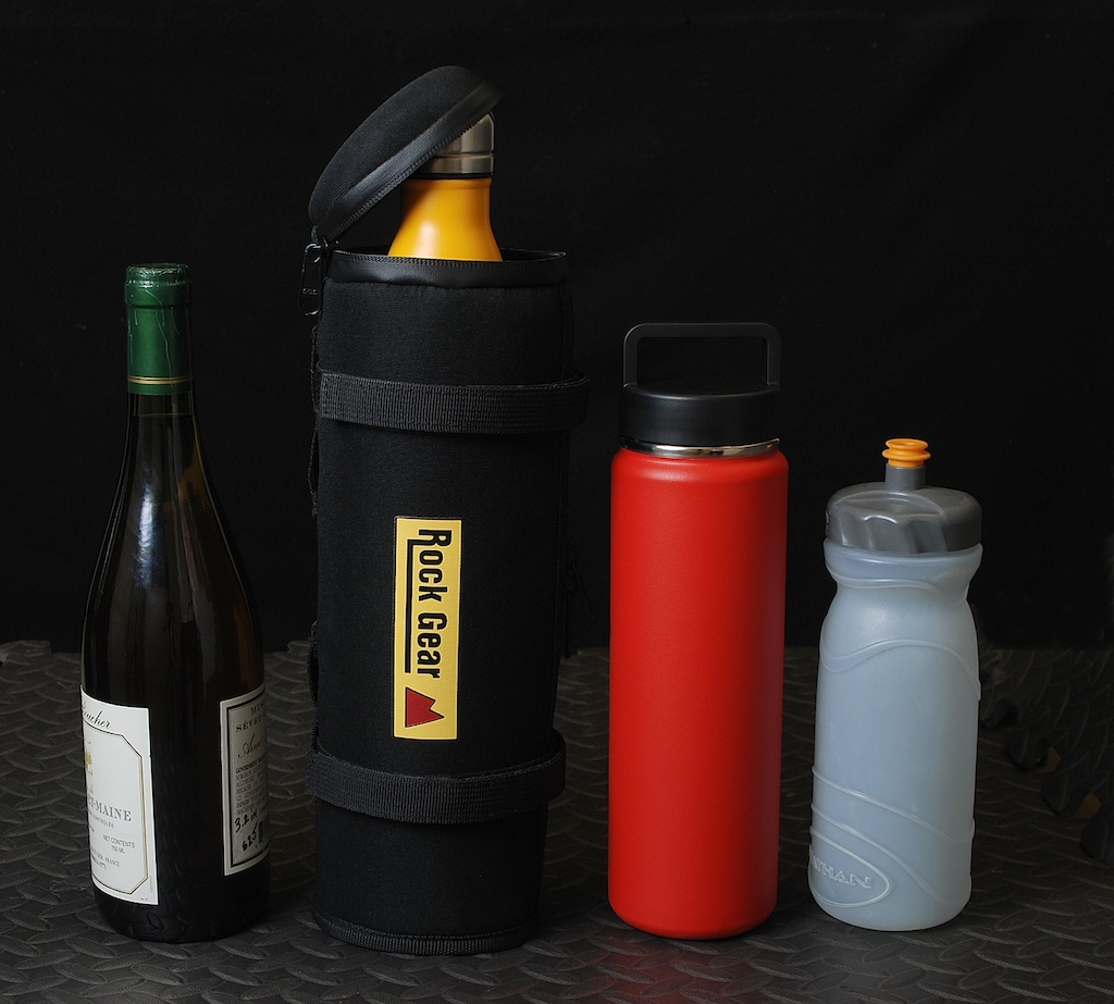 Rock Gear brand storage case with selection of bottles that can fit inside.