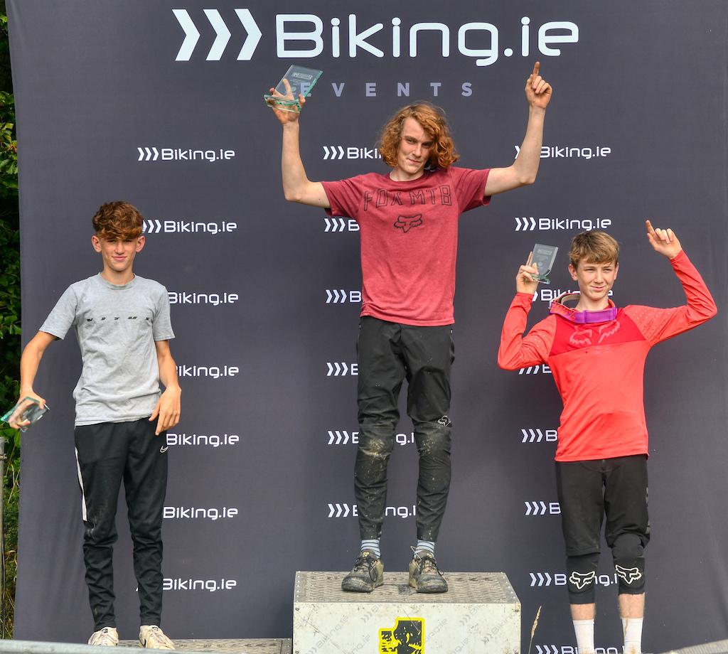 Under 17 men podium