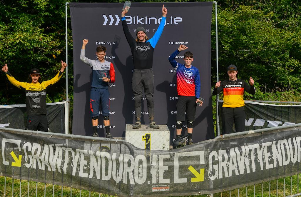 Elite riders podium