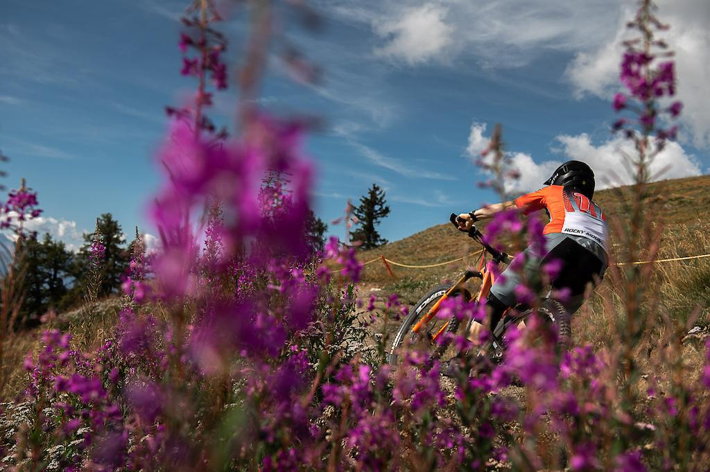 The Rocky Mountain Race Face Team in Crans-Montana
