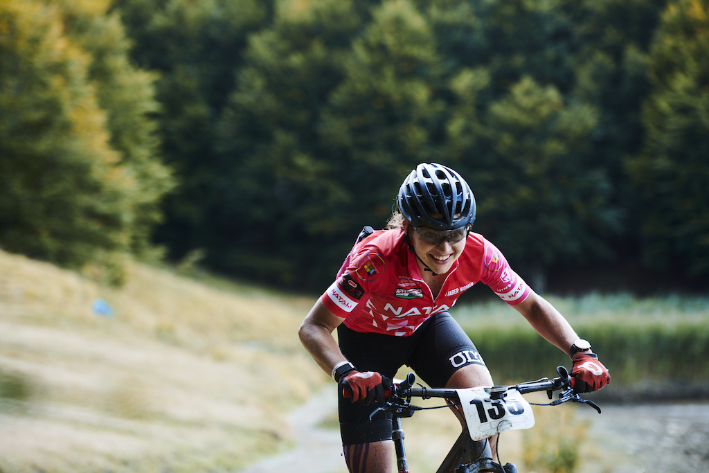 during Stage 6 of the 2021 Appenninica MTB from Cerreto to Castelnovo ne Monti Emilia Romagna Italy on 17 September 2021. Photo by Marius Holler. PLEASE ENSURE THE APPROPRIATE CREDIT IS GIVEN TO THE PHOTOGRAPHER.