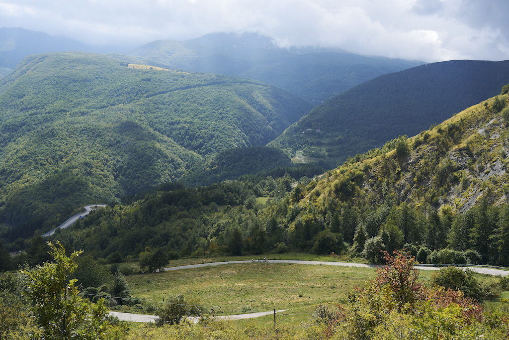 during Stage 6 of the 2021 Appenninica MTB from Cerreto to Castelnovo ne Monti Emilia Romagna Italy on 17 September 2021. Photo by Michael Chiaretta. PLEASE ENSURE THE APPROPRIATE CREDIT IS GIVEN TO THE PHOTOGRAPHER.