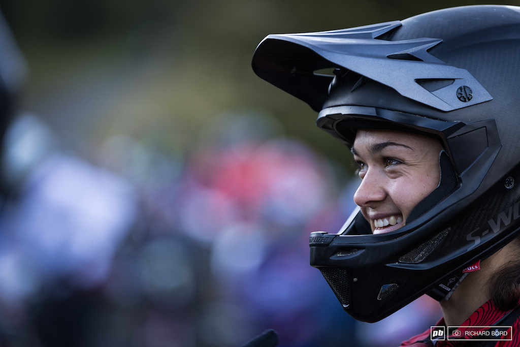 Axelle Murigneux s big smile on Saturday morning.